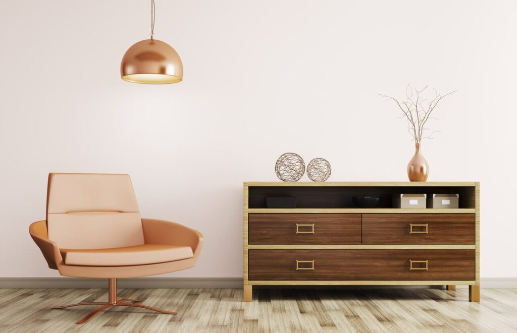 rose champagne furniture