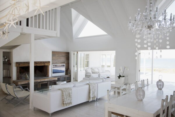 Hot Home Trends in 2019- gorgeous, white, open-concept home